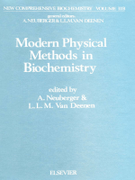 [New Comprehensive Biochemistry 11 Part B] A. Neuberger and L.L.M. van Deenen (Eds.) - Modern Physical Methods in Biochemistry (1985 Elsevier Academic Press)