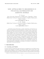 New approaches to regression in financial Mathematics by additive models.