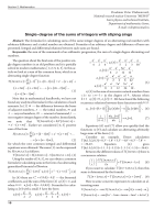 Single-degree of the sums of integers with stiping sings.