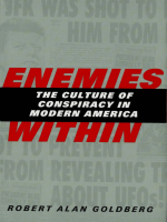 Robert Alan Goldberg Enemies - Within The Culture of Conspiracy in Modern America
