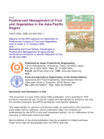 Postharvest Management of Fruit and Vegetables in the Asia-Pacific Region