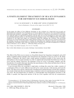 A finite-element treatment of sea ice dynamics for different ice rheologies