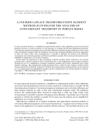 A Fourier-Laplace transform finite element method (FLTFEM) for the analysis of contaminant transport in porous media