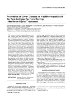 Activation of liver disease in healthy hepatitis B surface antigen carriers during interferon-alpha treatment