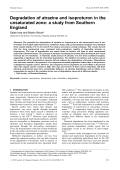 Degradation of atrazine and isoproturon in the unsaturated zone a study from Southern England