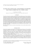 Elastic solutions for a transversely isotropic half-space subjected to a point load