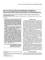 Severe form of Freeman-Sheldon syndrome associated with brain anomalies and hearing loss