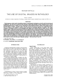 The use of digital images in pathology
