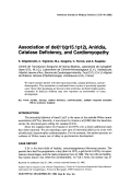 Association of del(11)(p15.1p12)  aniridia  catalase deficiency  and cardiomyopathy