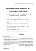 Beryllium lymphocyte proliferation test surveillance identifies clinically significant beryllium disease.