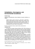 Cohabitation  convergence  and environmental covariances.