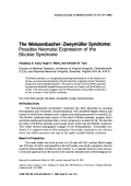 The WeissenbacherтАУZweym├╝ller syndrome Possible neonatal expression of the Stickler syndrome.