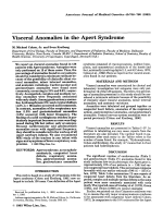 Visceral anomalies in the Apert syndrome.