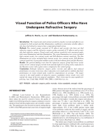 Visual function of police officers who have undergone refractive surgery.