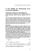 A New Method for Measurement Error Covariance Estimation.