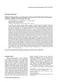 Affiliative relationships and reciprocity among adult male bonnet macaques (Macaca radiata) at Arunachala Hill  India.