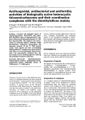 Antifungicidal  antibacterial and antifertility activities of biologically active heterocyclic thiosemicarbazones and their coordination complexes with the dimethylsilicon moiety.