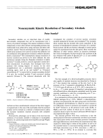 Nonenzymatic Kinetic Resolution of Secondary Alcohols.