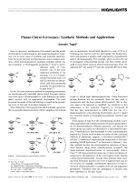 Planar-Chiral Ferrocenes  Synthetic Methods and Applications.