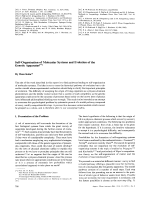 Self-Organization of Molecular Systems and Evolution of the Genetic Apparatus.