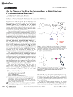 On the Nature of the Reactive Intermediates in Gold-Catalyzed Cycloisomerization Reactions.