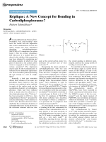 Rnplique  A New Concept for Bonding in Carbodiphosphoranes.