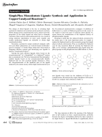 SimplePhos Monodentate Ligands  Synthesis and Application in Copper-Catalyzed Reactions.