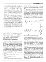 Synthesis of Chiral 1 1-Iminodicarboxylic Acid Derivatives from -Amino Acids  Aldehydes  Isocyanides  and Alcohols by the Diastereoselective Five-CenterЦFour-Component Reaction.