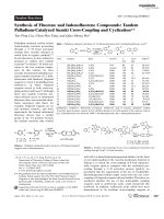 Synthesis of Fluorene and Indenofluorene Compounds  Tandem Palladium-Catalyzed Suzuki Cross-Coupling and Cyclization.