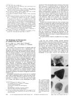 The Morphology and Microstructure of Colloidal Silver and Gold.