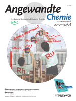 Titelbild  High-Yielding Tandem HydroformylationHydrogenation of a Terminal Olefin to Produce a Linear Alcohol Using a RhRu Dual Catalyst System (Angew. Chem. 262010)