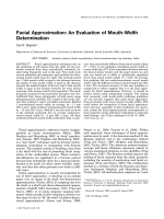 Facial approximation  An evaluation of mouth-width determination.