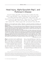 Head injury  alpha-synuclein Rep1  and Parkinson's disease.