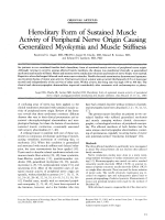 Hereditary form of sustained muscle activity of peripheral nerve origin causing generalized myokymia and muscle stiffness.