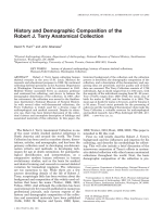 History and demographic composition of the Robert J. Terry anatomical collection