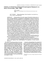 History of American paleoanthropological research on early Hominidae  1925Ц1980.