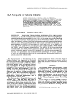 HLA antigens in Tkuna Indians.