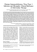 Human immunodeficiency virus type 1 infections and myopathy  Clicical relevance of zidovudine therapy.