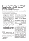 Impact of the Fragile X mental retardation 1 (FMR1) gene premutation on neuropsychiatric functioning in adult males without fragile X-associated TremorAtaxia syndrome  A controlled study.