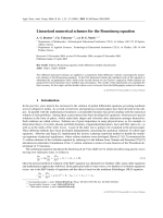 Linearized numerical schemes for the Boussinesq equation.