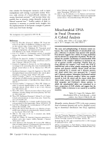 Mitochondrial DNA in focal dystonia  A cybrid analysis.