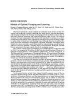 Models of optimal foraging and learning. Review of Foraging Behavior  edited by A.C. Kamil  J.R. Krebs  and H.R. Pulliam. New York  Plenum Press  1987  686 pp