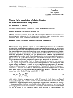 Monte Carlo simulation of cluster kinetics in three-dimensional Ising model.