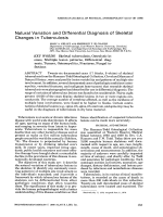 Natural variation and differential diagnosis of skeletal changes in tuberculosis.