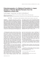 Paleodemography of a medieval population in Japan  Analysis of human skeletal remains from the Yuigahama-minami site.