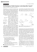 [Fe]-Hydrogenase Models Featuring Acylmethylpyridinyl Ligands.