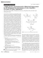 A Highly Reactive and Enantioselective Bifunctional Organocatalyst for the Methanolytic Desymmetrization of Cyclic Anhydrides  Prevention of Catalyst Aggregation.