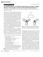 One Building Block  Two Different Supramolecular Surface-Confined Patterns  Concentration in Control at the SolidЦLiquid Interface.