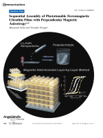 Sequential Assembly of Phototunable Ferromagnetic Ultrathin Films with Perpendicular Magnetic Anisotropy.