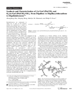 Synthesis and Characterization of [ArGaC(Ph)CH]2 and K2[ArGaC(Ph)CH]2OEt2  From Digallene to Digallacyclohexadiene to Digallatabenzene.
